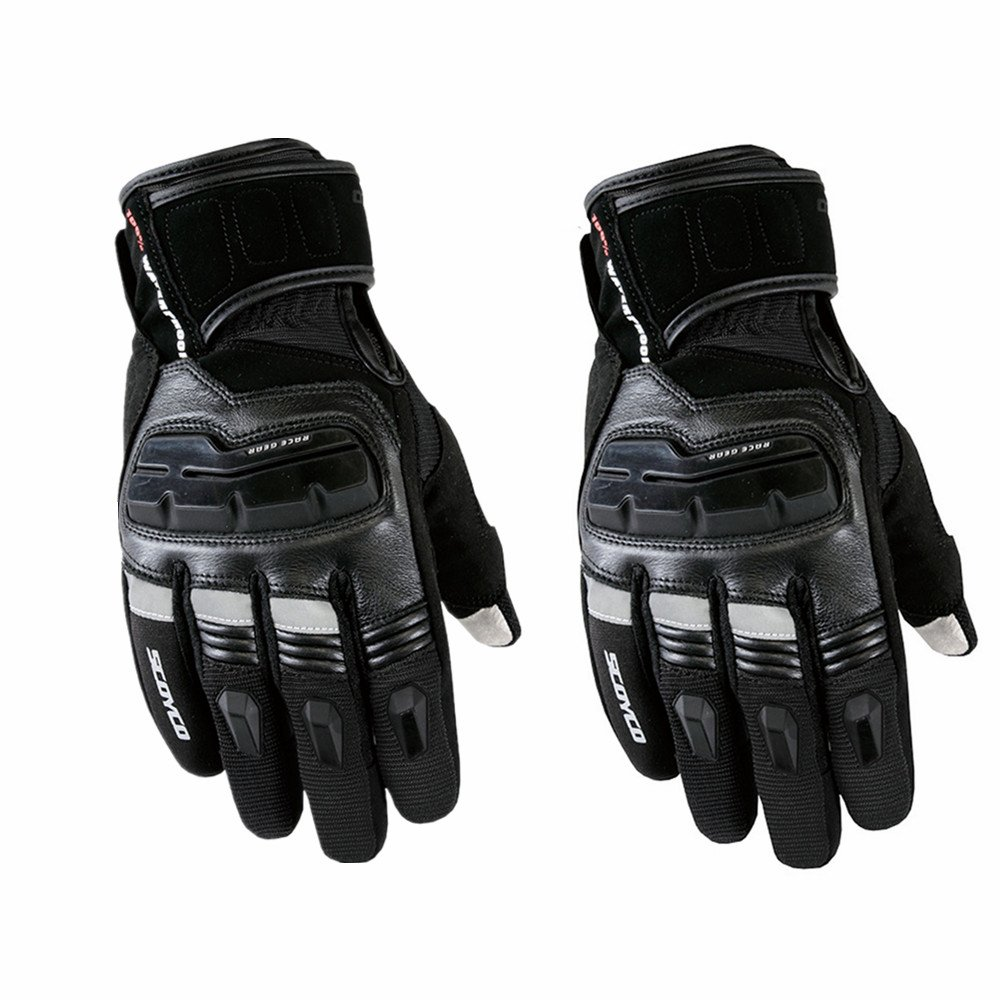 Sdcvopl Protective Gloves Protective Motorcycle Gloves Cycling Mountain Bike Men Gloves for Motorbike Cycling Racing Ventilation (Color : Black, Size : M)