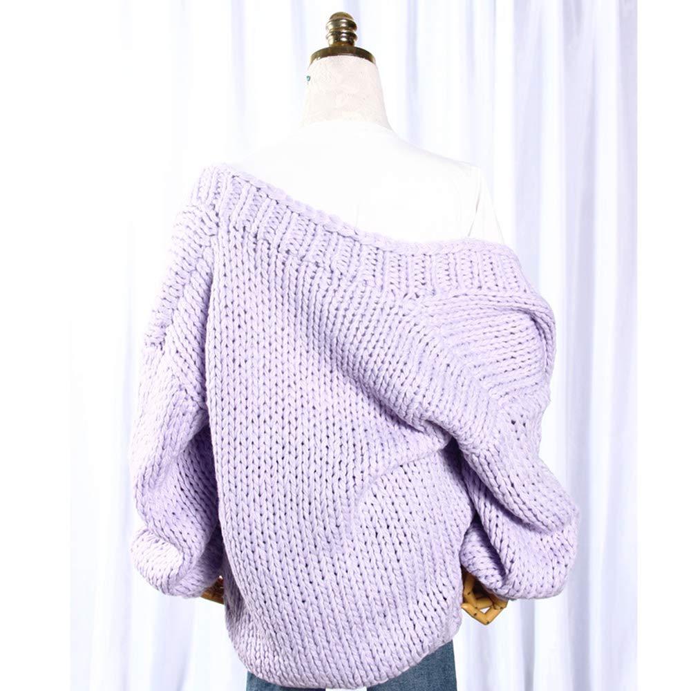 De Gran Suéter Tamaño Otoño Mano Suelta E Invierno Hecho A Llxym a6gnT6