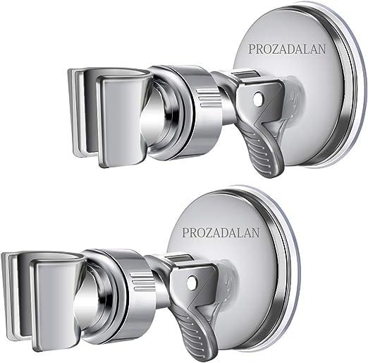 Duschkopfhalter Saugnapf Silber Einstellbarer Winkel Saugnapf Handbrause Duschkopfhalter Verstellbar Brausehalterung Abnehmbarer Handbrausehalter und an der Wand montierter Saugnapf