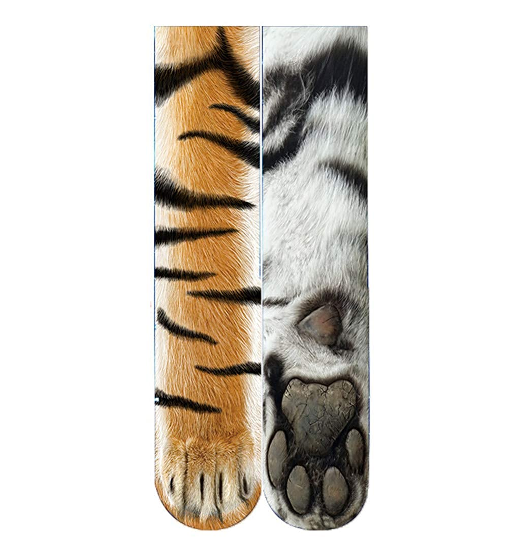 Morbuy Womens Socks Animal Foot Paw 3D Print Medium Tube Socks Cosy Floor Socks