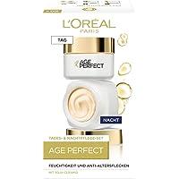 L'Oréal Paris Age Perfect, gezichtsverzorgingsset, anti-aging dagverzorging en nachtverzorging, ondersteunend effect en…