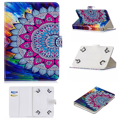 se for 9-10 inch Tablet, Slim Magnetic PU Leather Folio Stand Cover with Cards Slots for 9