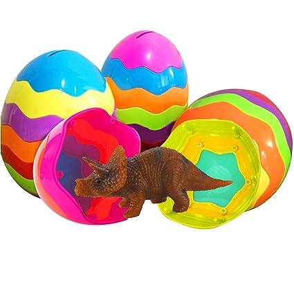 Amazon.com: Dinosaur Toys - Huevos de Pascua rellenos de 5,1 ...