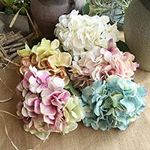 UMFun Artificial Silk Fake Flowers Peony Floral Bouquet Wedding Bridal Hydrangea Party Home Decor 32