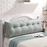 Buildingdream Removable Bed Filled Triangular Wedge Cushion Bed Backrest Positioning Reading Pillow (78(L) x7.8(W) x19.7(H) inch, Style C)