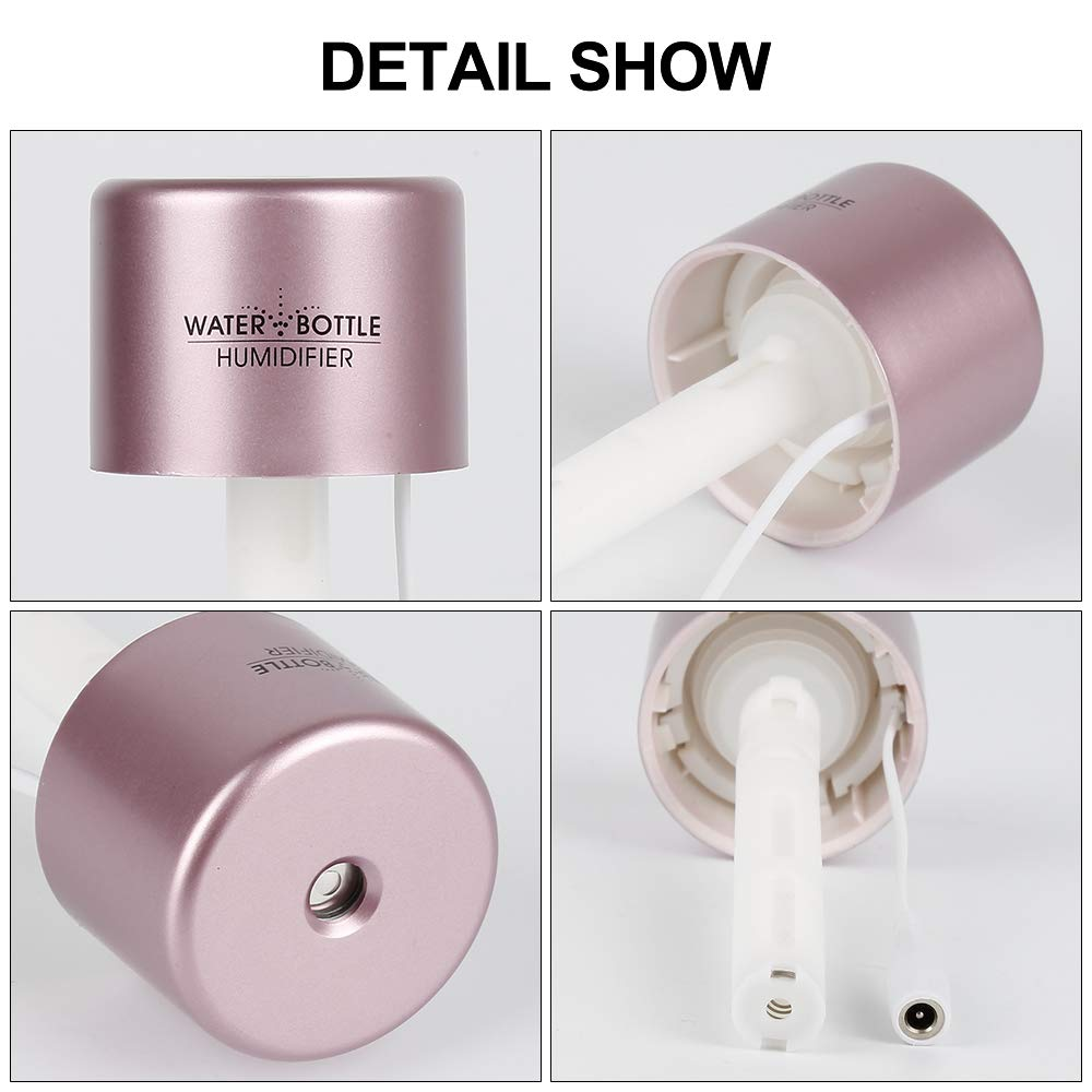 AOTUO Mini Port/átil USB Humidificador Creativo Botella Peque/ña atomizador aromaterapia Difusor de Aire para Ministerio del Interior E##