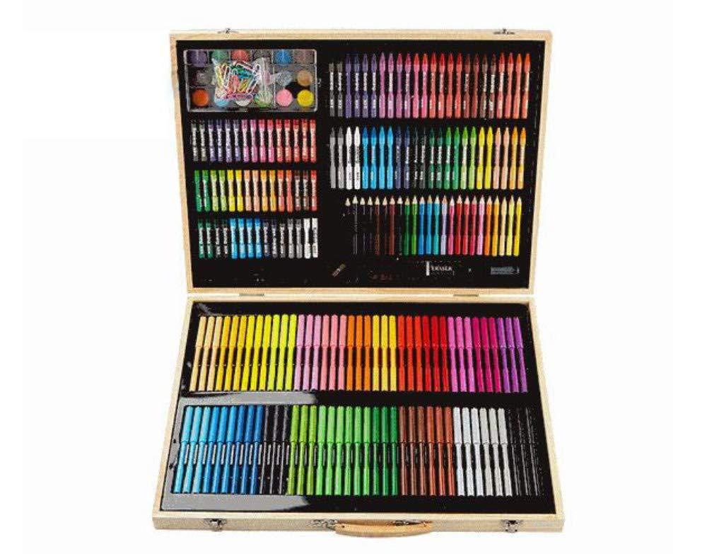 AUMING Pennarelli Lavabili 130 Set di pennelli Set Cancelleria per Bambini Strumenti di Pittura Penna Acquerello Arte Apprendimento Forniture per la Pittura Pennarelli
