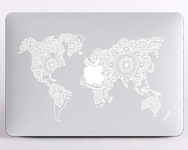 Amazon Com Modo Design Mandala World Map Macbook Pro 13 Case With