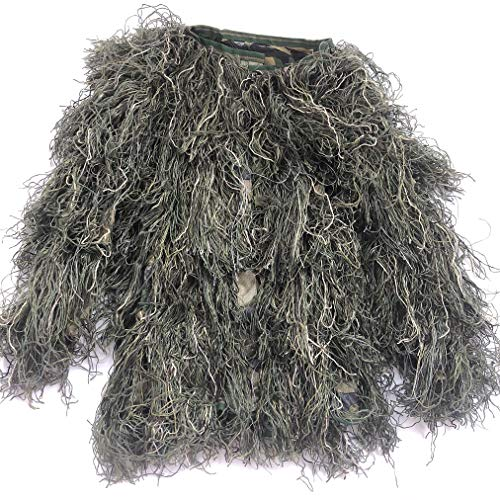 Didaoffle Ghillie Suit Camo Suit Woodland and Forest Design Military Leaf Hunting and Shooting Accessories Camouflage Clothing for Wildlife Photography Halloween or Christmas -
