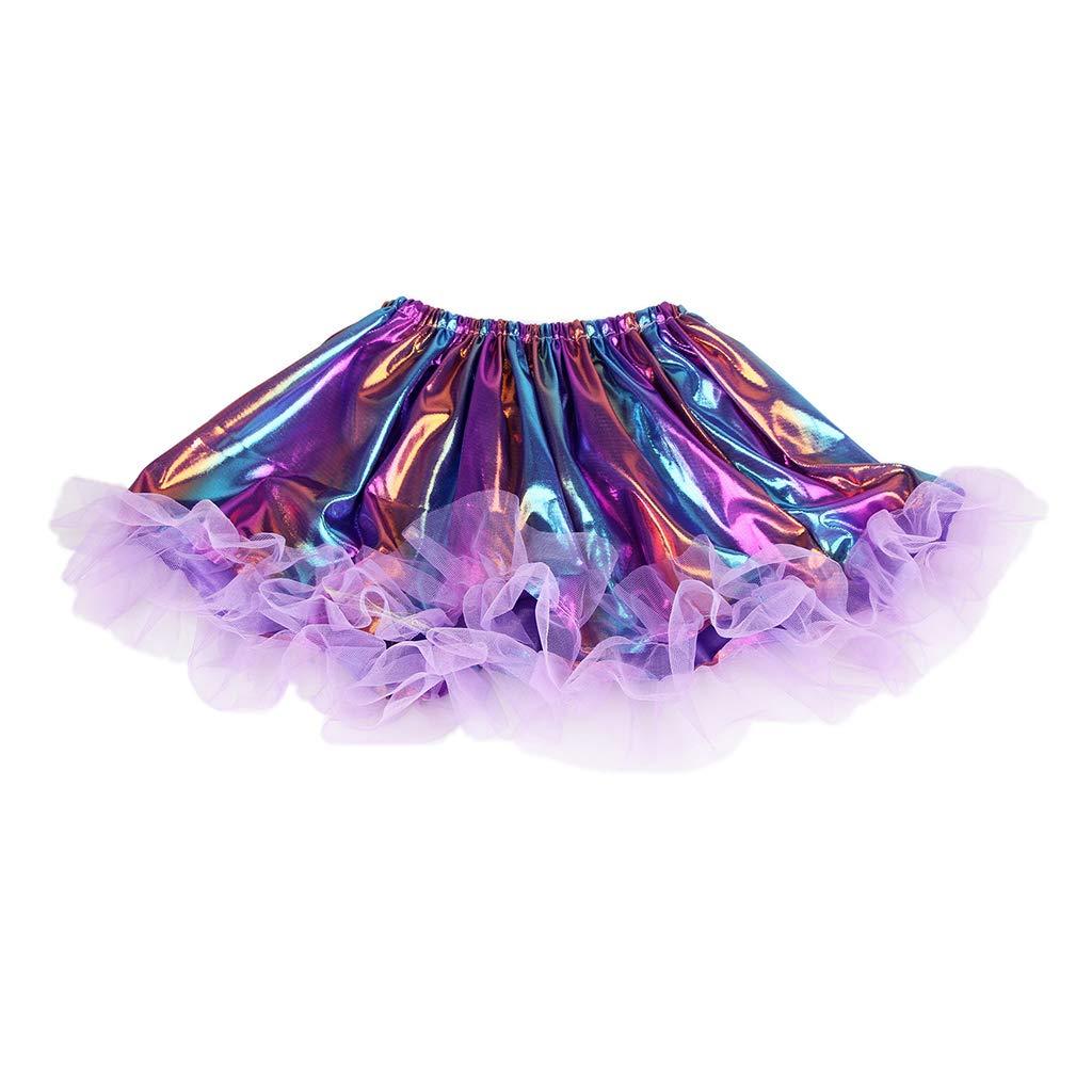 Pennyninis falda tutú plisada a rayas, holograma, baile de ballet ...