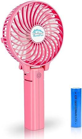 Silent Charging Fan Color : Pink Fan USB Mini Fan Desktop Clip Lightweight and Portable Mini Portable Cooling Fan