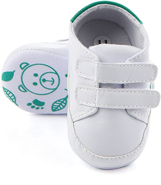 Pram Shoes Newborn Baby Boy Infant Boat Shoes Toddler PreWalker Trainers 0-12