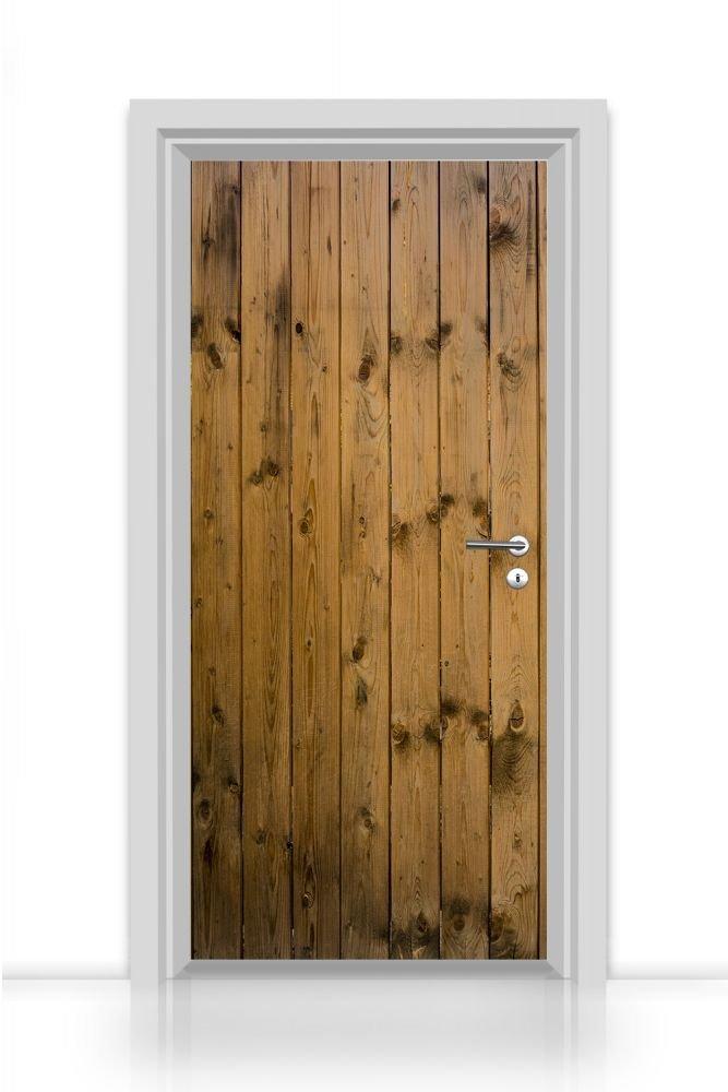 Papier peint autocollant pour porte 1 piè ce (ancienne Structure en bois naturel) Autocollant Sticker 93 x 205 cm codiarts.