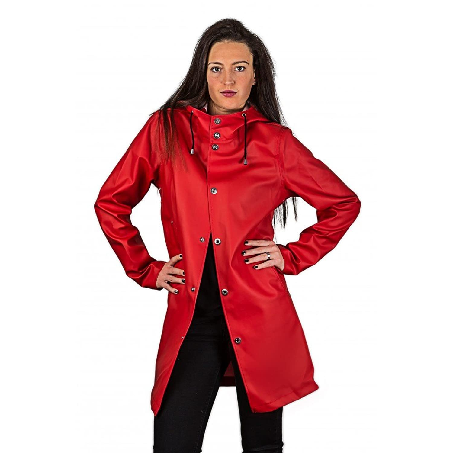 Raincoat womens with hood stylish catalog photo