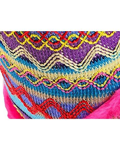 Roxx XL Fur Print Microfiber Faux Boot Women's Knit Slippers Blazin Pink UwvdqPRUZ
