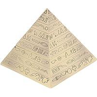 Shiwaki Cenicero Vintage Creativo Artesanías de Metal en Relieve Piramide Egipcia Decoración con Tapa Cenicero - Bronce