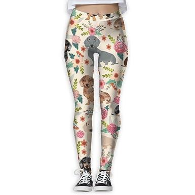 8fd86ca9c5a6b Virgo Sausage Dog Dachshund Print Compression Pants/Yoga Pants Workout Leggings  Women Athletes Christmas at Amazon Women's Clothing store: