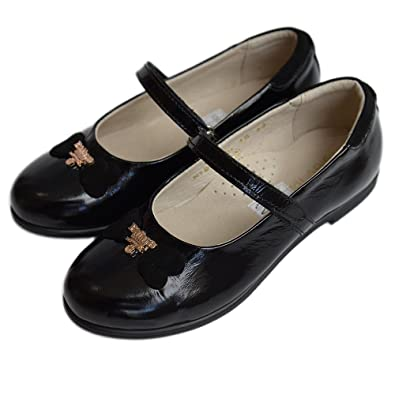 c3453964ac12 Black Leather School Shoes for girls size 9 child UK