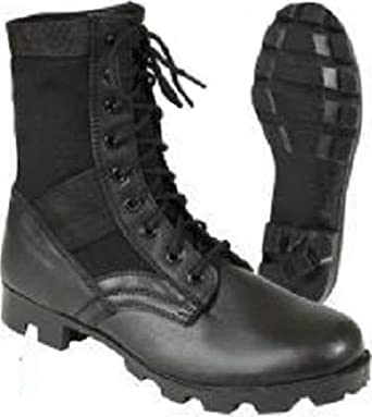 Amazon.com  Steel Toe Boots Black Military Vietnam Style Jungle Boots With  Panama Sole  Clothing 632618d40e1