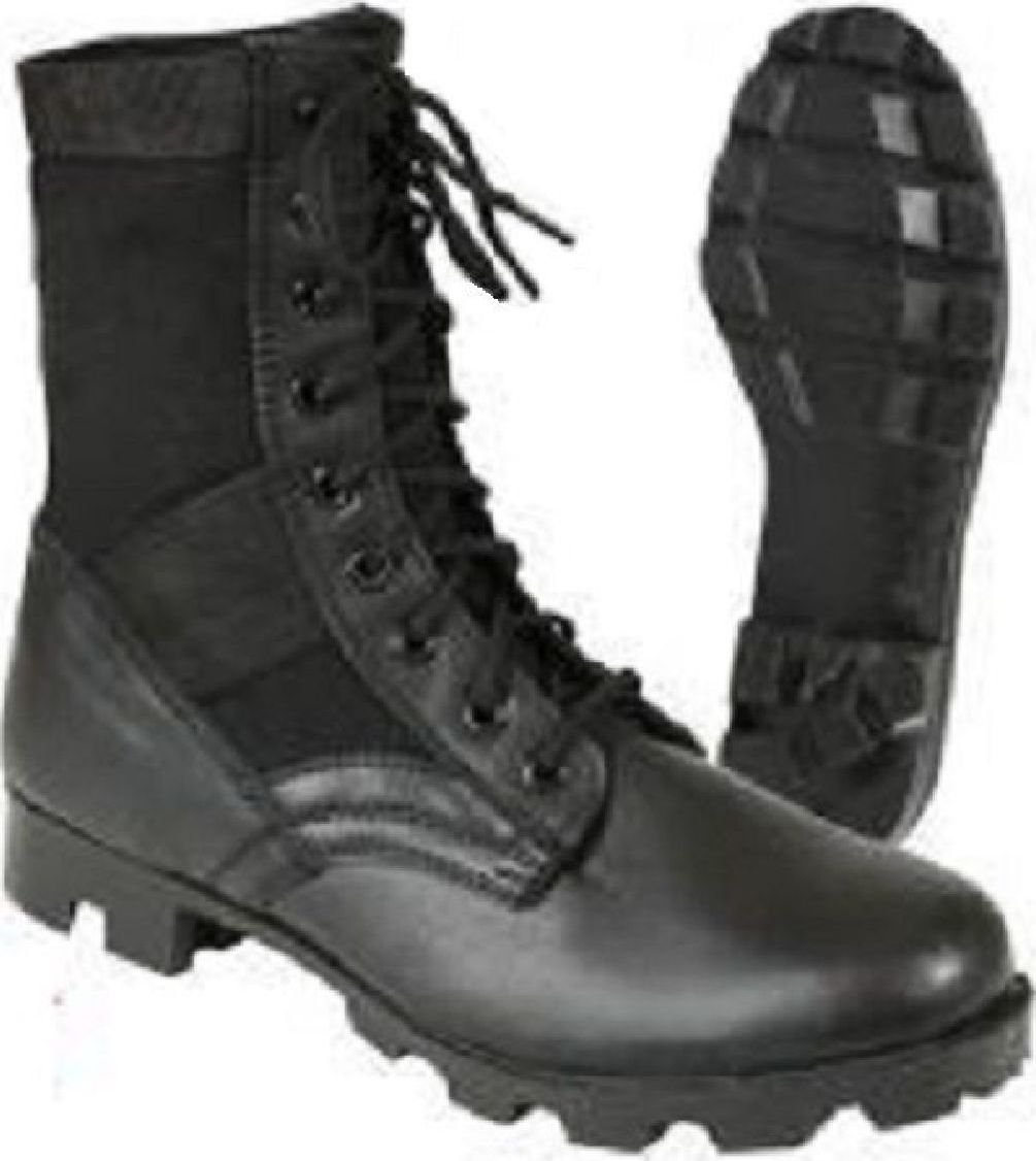 Steel Toe Boots Black Military Vietnam Style Jungle Boots With Panama Sole