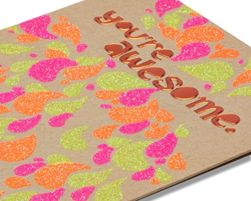 American Greetings You're Awesome Birthday Card with Glitter - 5856772 by American Greetings (Image #3)