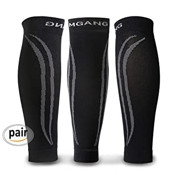 8dfe912a3c Calf Compression Sleeve, 1 Pair Unisex, Strong Calf Support 20-30mmHg, Best
