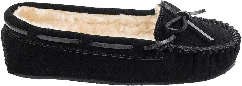 Minnetonka Womens Cally Faux Fur Slipper