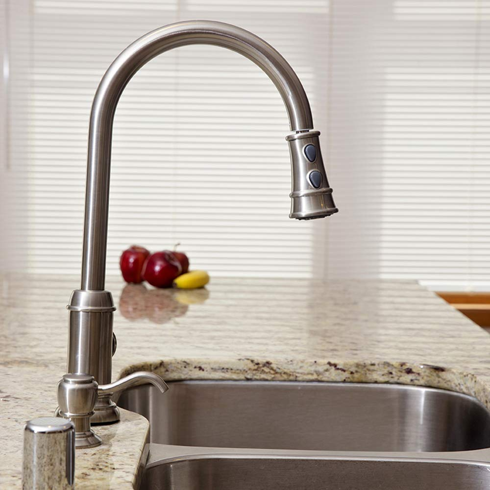 Design House 524728 Ironwood Pull-Down Kitchen Faucet Brushed Bronze