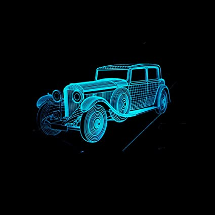 Amazon.com: RTYHI New Vintage Car 7 Colorful 3D Light Colorful Touch Gift Table Lamps Lamparas Desk Lamp 3D Night Light,Touch Switch,7 Color Change: Home & ...