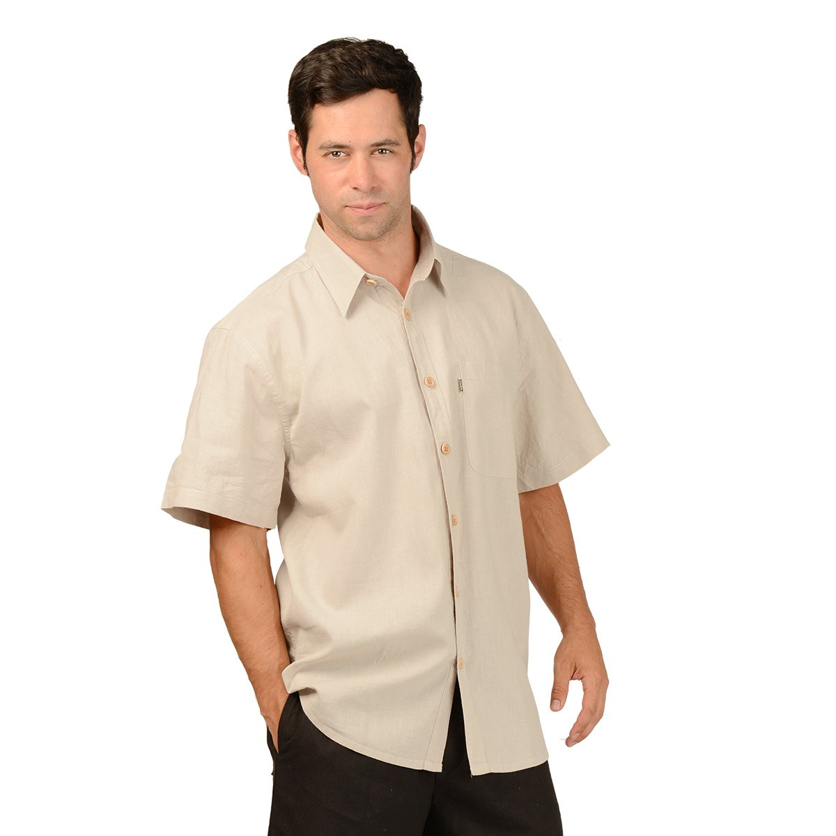 Efforts Mens Hemp//OC Short Sleeve Button Shirt