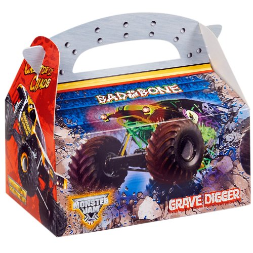 Monster Jam Party Supplies - Empty Favor Boxes (4) (Hot Wheels Party Invitations compare prices)
