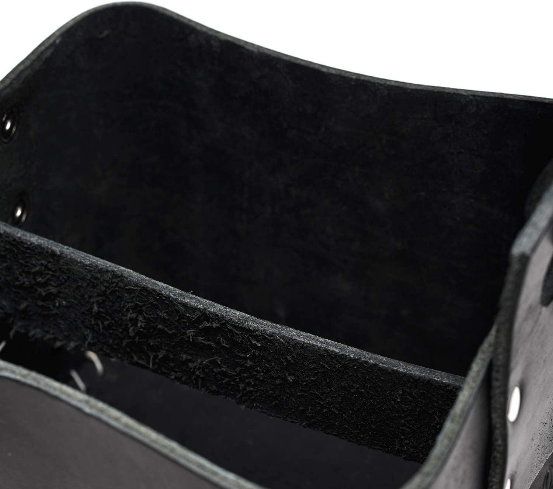 Termo I Ideal para Viajar BALIBETOV Bolso Matero Rustico de Cuero Genuino I Bolso para Calabaza Mate Actividad al Aire Libre Yerba Mate Picnic Negro el Trabajo