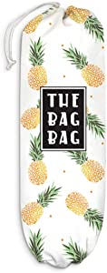 Pineapple Plastic Bag Holder Grocery Shopping Bags Carrier Storage Organizer Dispenser, Home Kitchen Bathroom Farmhouse Decor, Gift for Hostess, Mother, Friends, Housewarming, Thanksgiving, Christmas