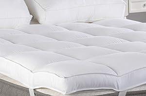 "Marine Moon Queen Mattress Topper, Plush Pillow Top Mattress Pad/Bed Topper, Hotel Quality Down Alternative Pillow Topper, 3"" Thick"