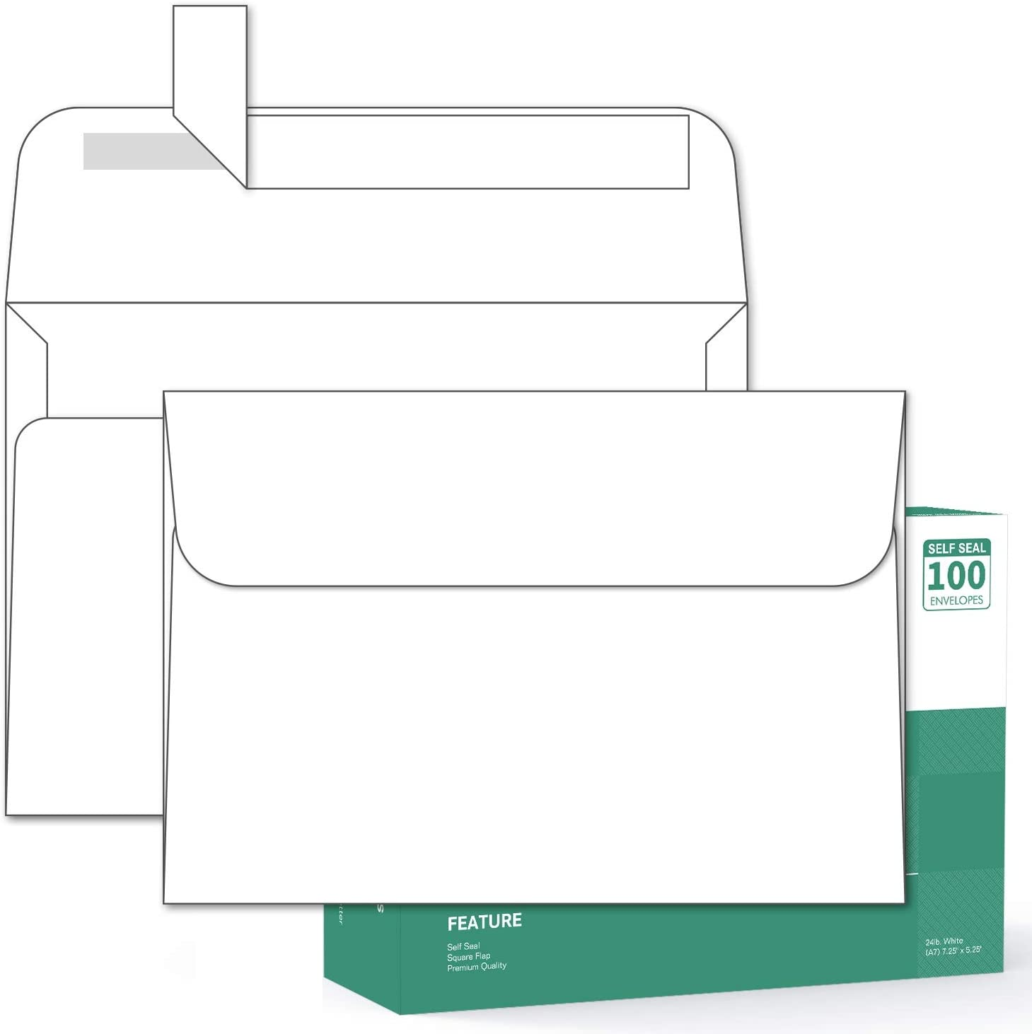 with Bright White Vellum Finish for Mailing Greeting Cards Thick A7 Size Announcements Postcards Desktop Publishing Supplies 5x7 Envelopes 45 Pack 5.25 x 7.25 inch Photos Invitations