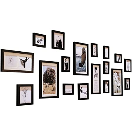 HHNP Photo Frames American Solid Wood Photo Wall Living Room Bedroom ...