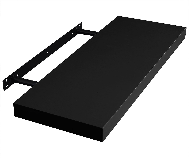 EUGAD 0146QJ-4 Wandregal Wandboard 4er Set H/ängeregal Holz Board Modern Grau 110x22,9x3,8cm