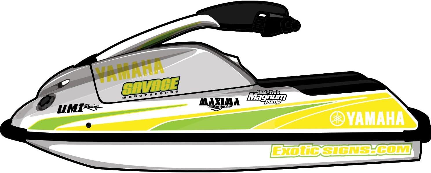 025 Brimstone Yellow // 010 White EY0033SUP Exotic Signs Yamaha SuperJet Farthing Star Graphic Kit