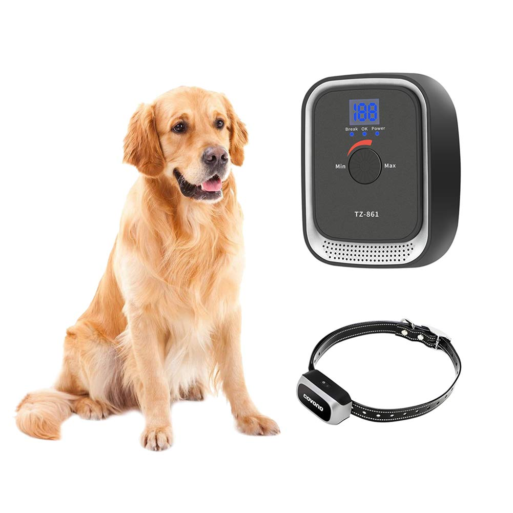 COVONO Underground Pet Containment System,Electric Dog Fence(In-Ground/Aboveground Installation,Waterproof/Rechargeable Collar,Static/Tone Correction,Support 1 Dog)
