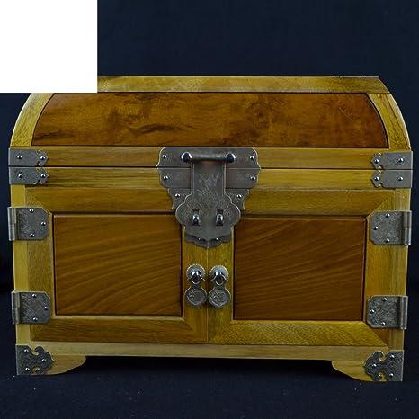 Tesoro de Phoebe joya Peine placa solo caja de joyería muebles de madera roja y adornos