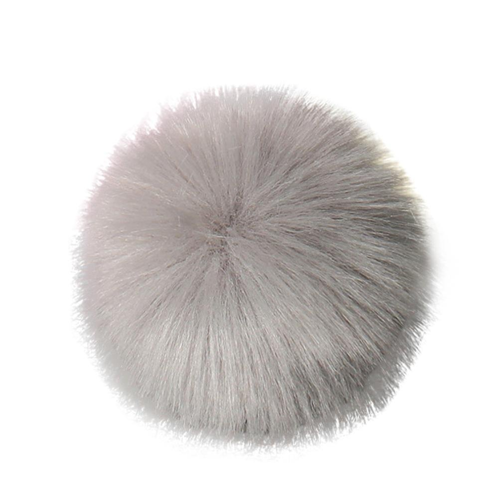Faux Fox Fur Pompom Ball SOMESUN DIY Fur Fluffy Ball for Knitting Hat Hats