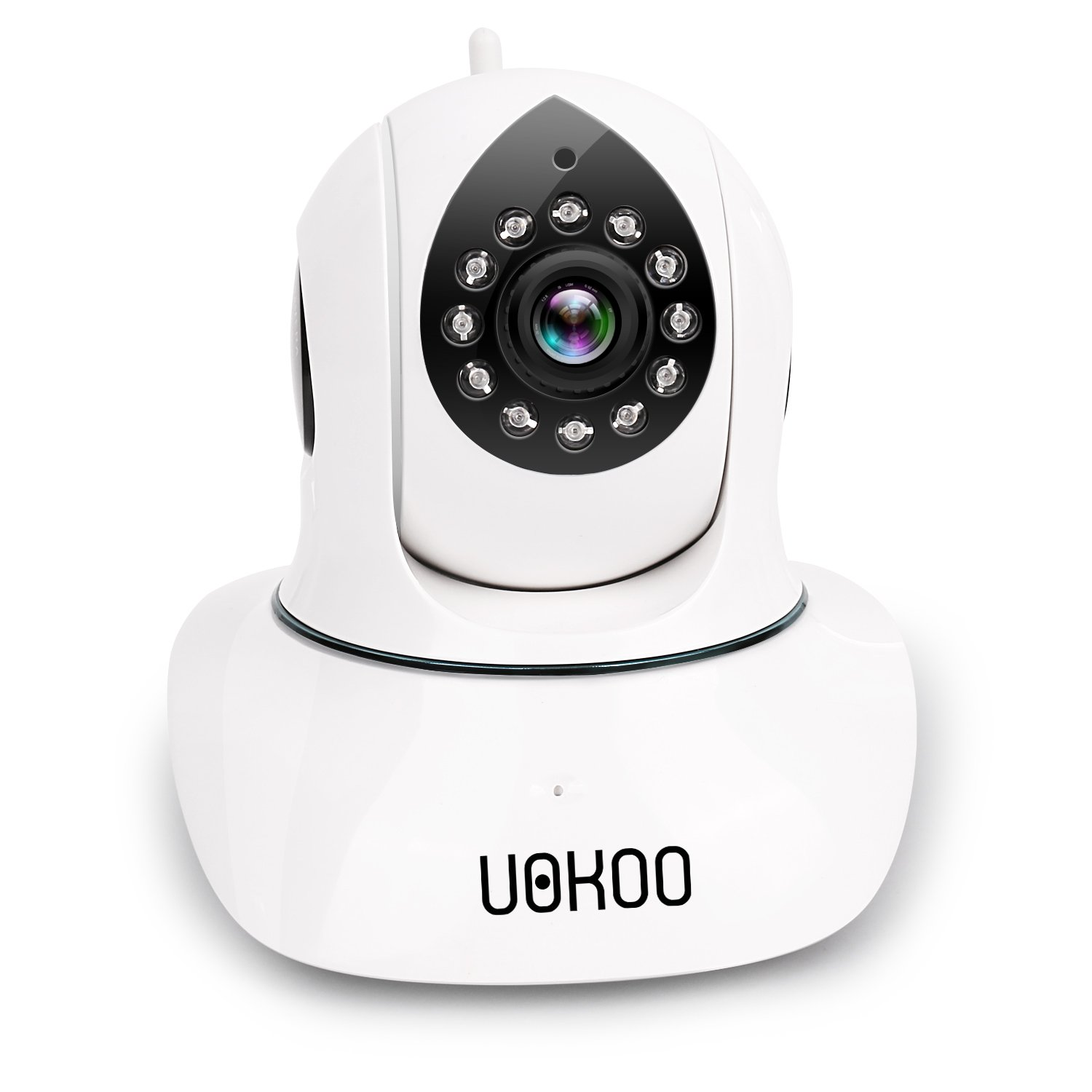 Wireless Security Camera, UOKOO HD WiFi Surveillance IP Camera with Email Alert/Two-Way Audio/Pan&Tilt/Night Vision Baby Monitor (Upgraded Version) (Upgraded Version)