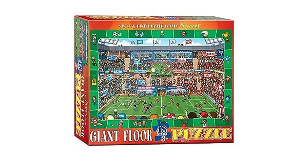 Amazon.com: Fútbol – Spot y encontrar Floor Puzzle, – Bloc ...