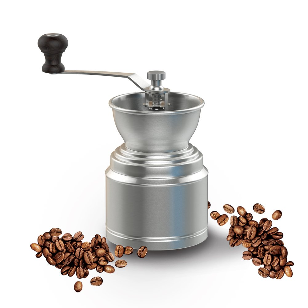 Vomach Manual Coffee Grinder Stainless Steel Adjustable Grinder Durable Coffee Bean Grinder