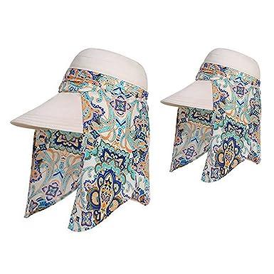 0b7b21ea8d5 Image Unavailable. iHomey Roll up Wide Brim Sun Visor UPF 50+ UV Protection  Sun Hat ...