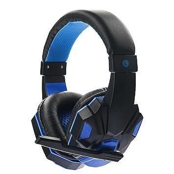 Auriculares Cascos Gaming de Diadema con Micrófono de Cancelación de Ruido y Estéreo Control Volumen para