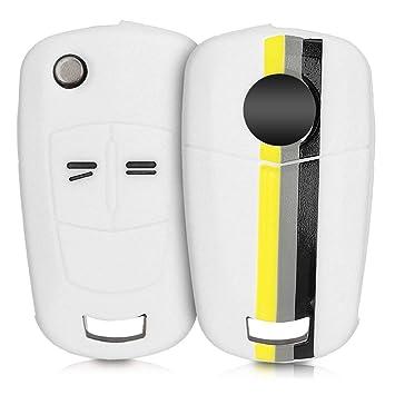 kwmobile Funda para Llave Plegable de 2 Botones para Coche Opel Vauxhall - Carcasa Protectora [Suave] de [Silicona] - Case de Mando de Auto con diseño ...