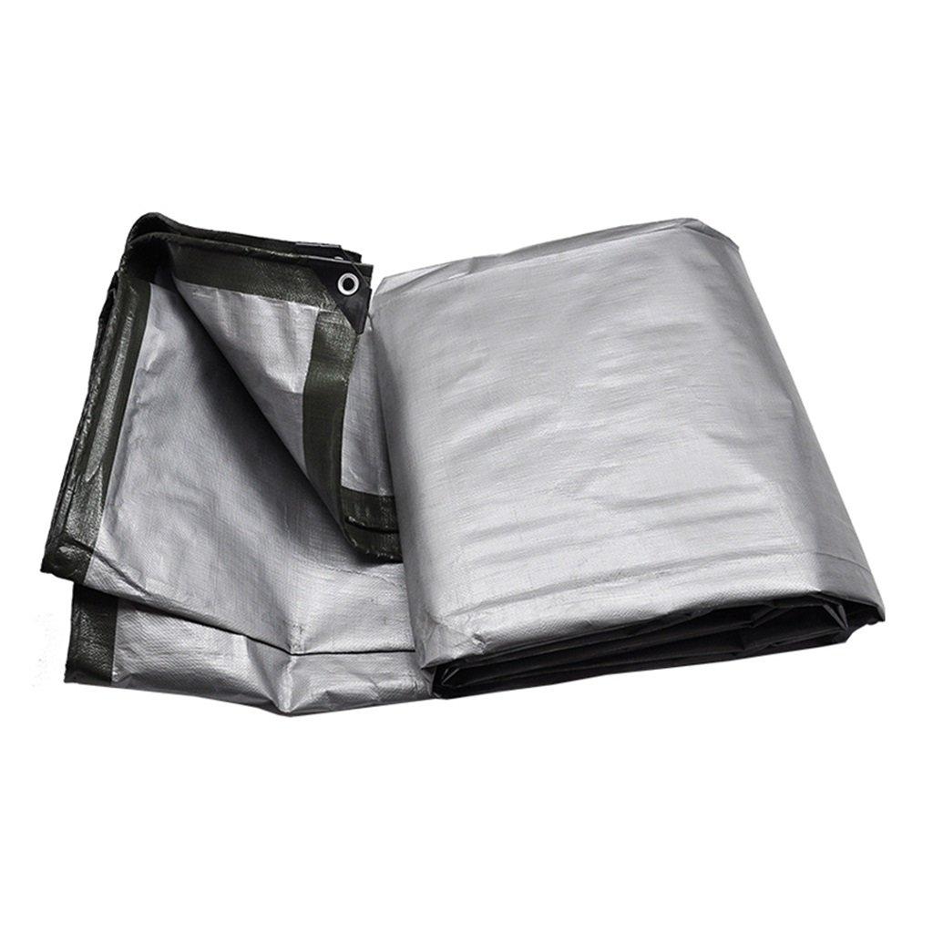 Teloni argentoo + Tenda verde militare Tarp Telo impermeabile Telo impermeabile in plastica nel poncho Famiglia Campeggio giardino Pioggia all'aperto, spessore 0,35 mm, 180 g   m2, 15 Opzioni dimension