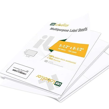 Amazon.com: Etiquetas para impresora láser y de inyección de ...