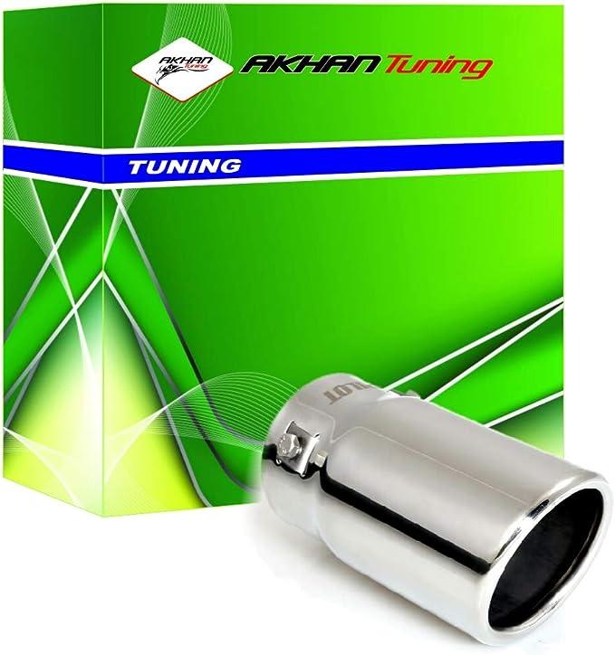 ER60016 - Acero inoxidable de tubo de escape del tubo de escape de para atornillar Embellecedor de tubos de escape universales